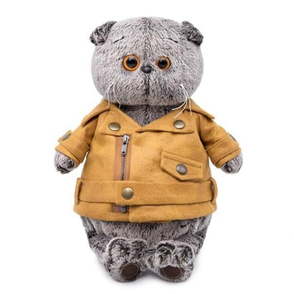 Мягкая игрушка Басик в куртке-косухе 19 см, Ks19-110 BUDI BASA