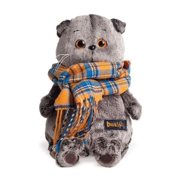 Мягкая игрушка Басик и шарф в клеточку 30см, Ks30-002 BUDI BASA