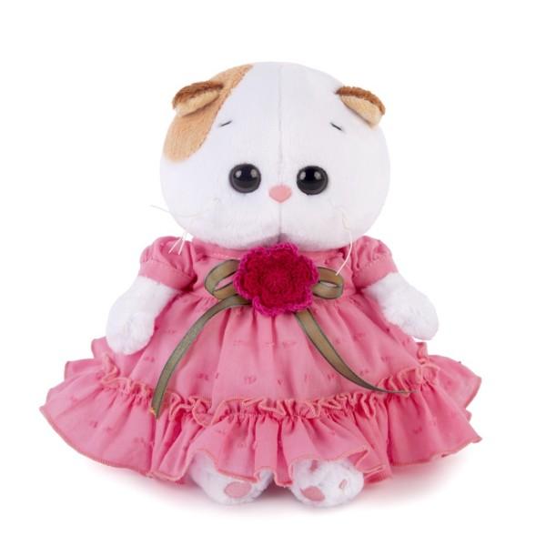 Мягкая игрушка Ли-Ли BABY в платье с вязаным цветочком 20см, LB-013 BUDI BASA