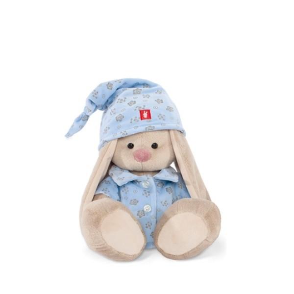 Мягкая игрушка Зайка Ми в голубой пижаме 23 см, SidM-071 BUDI BASA