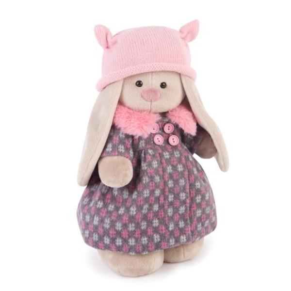 Мягкая игрушка Зайка Ми в пальто и розовой шапке 32 см StM-197 BUDI BASA