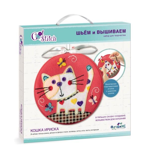 Набор для творчества Вышивание Кошка Ириска 04081ORIGAMI