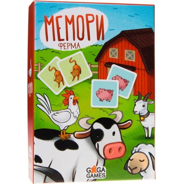 Настольная игра Мемори: Ферма GG118 GAGA GAMES