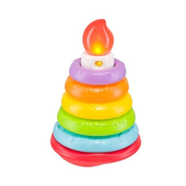 Пирамидка HAPPY CAKE музыкальная 330080m HAPPY BABY