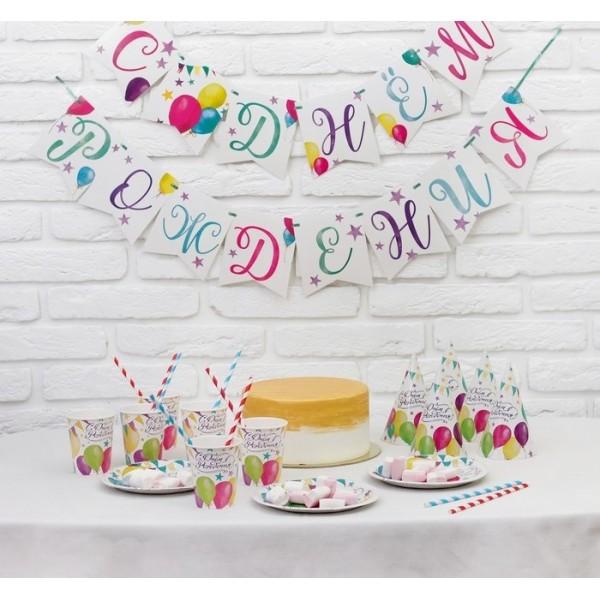 Набор бумажной посуды С днём рождения Шары, 3877353 Страна Карнавалия