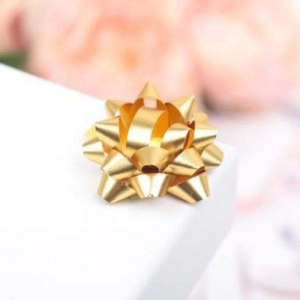 Бант-звезда №3,5 простой золотой 2951988
