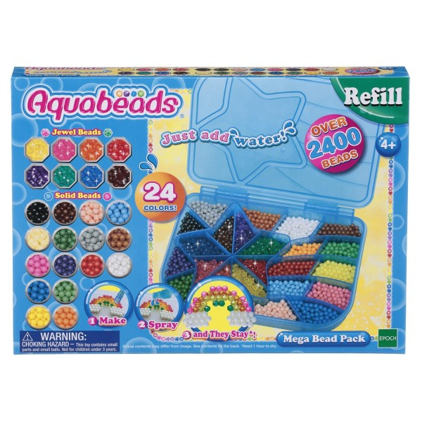 Большой набор ювелирных и жемчужных бусин Мега с палитрой, 79638 Aquabeads