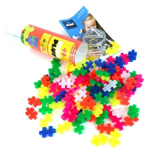 Конструктор разноцветный для создания 3D моделей, неон, 4024 Plus Plus
