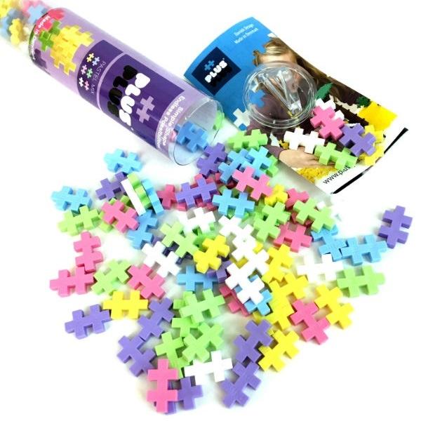 Конструктор разноцветный для создания 3D моделей, пастель, 4025 Plus Plus