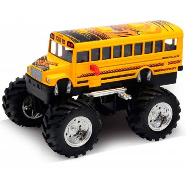Модель машины 1:34-39 School Bus Big Wheel Monster 47006S Welly