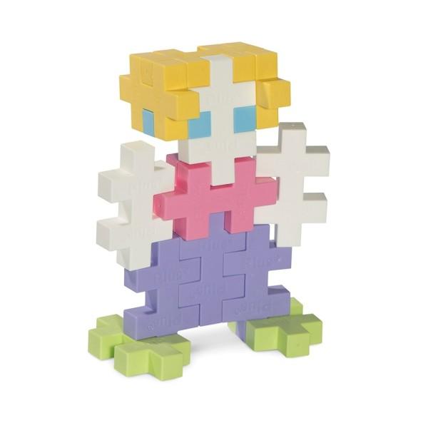 Игрушка Plus Plus Разноцветный конструктор для создания 3D моделей, пастель