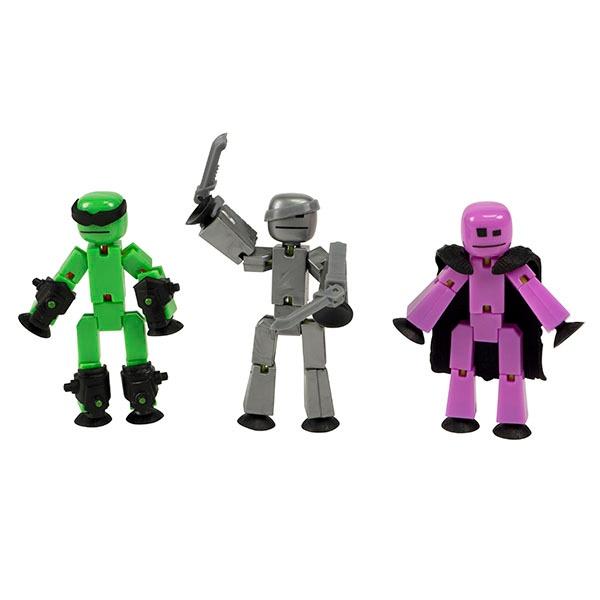 Игрушка 3 фигурки Stikbot Off the Grid Raptus TST614R Zing