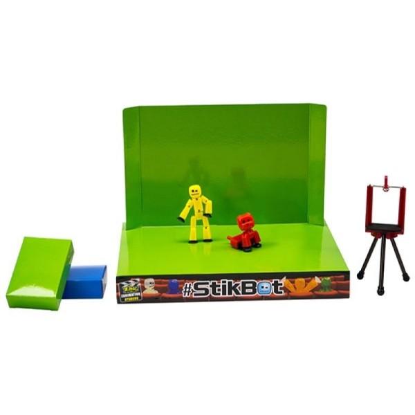 Игровой набор Анимационная студия со сценой и питомцем Stikbot, в ассортименте, TST617A Zing