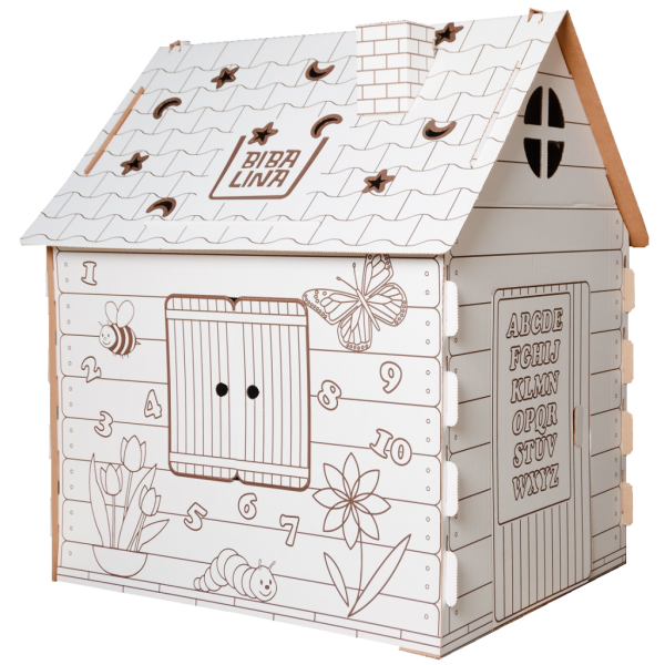 Картонный домик, английский алфавит, BBL003-001 BIBALINA