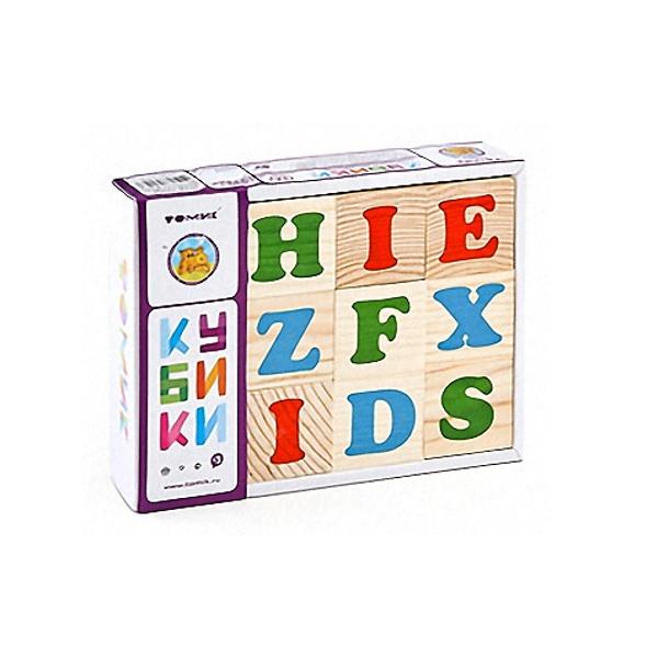 Набор из 12-и кубиков  Английский алфавит 1111-2m Томик