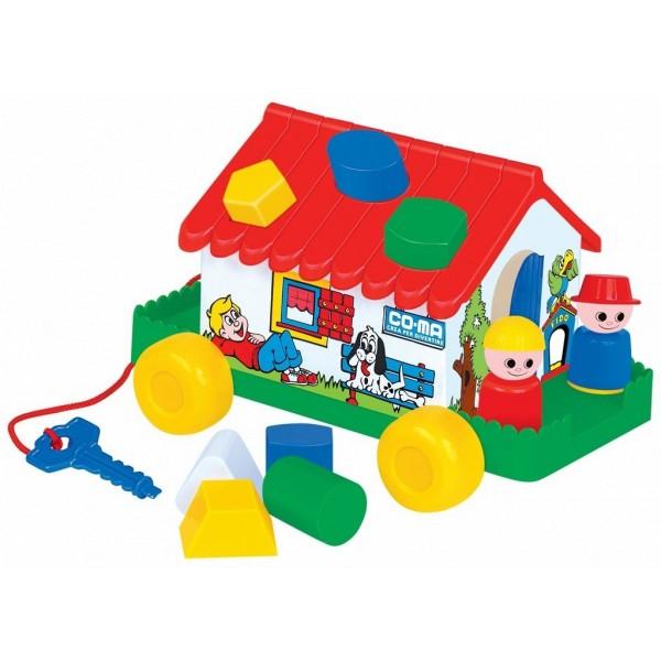 Развивающая игрушка-сортер Игровой дом в сетке 6028 Полесье