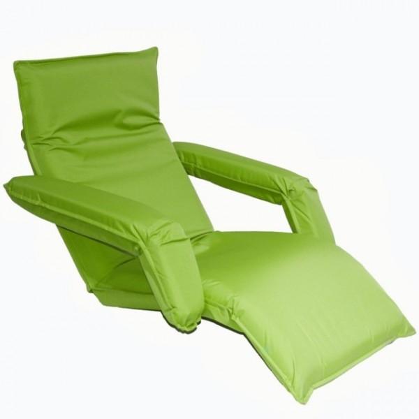 Кресло-шезлонг регулируемое с подлокотниками цвет зеленый LF10-UGin MERLIN