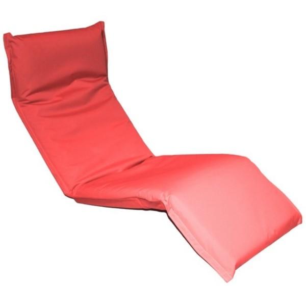 Кресло-шезлонг регулируемое цвет коралловый LF08-CRin MERLIN