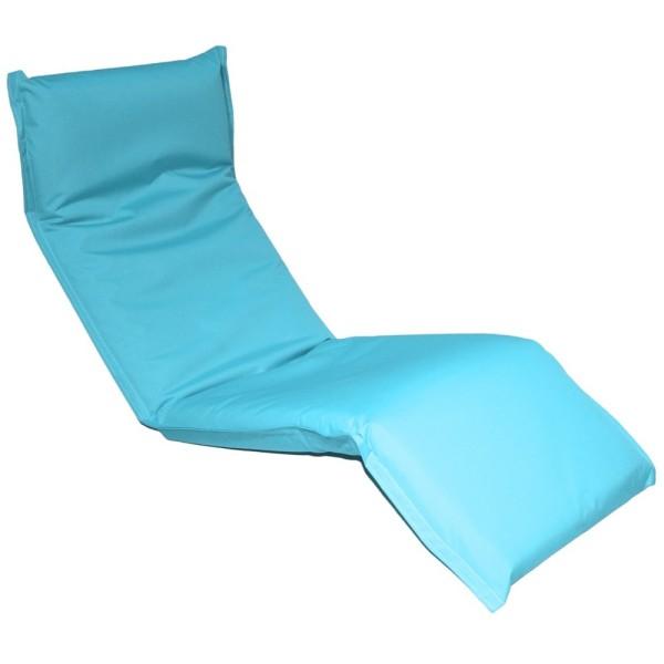 Кресло-шезлонг регулируемое цвет небесно голубой LF08-SBin MERLIN