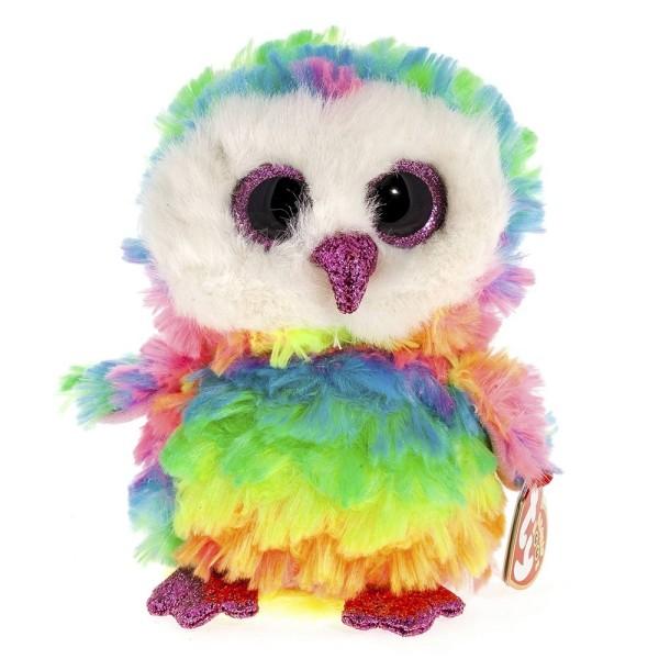 Мягкая игрушка Beanie Boos Совенок Owen разноцветный 15 см TY 37221