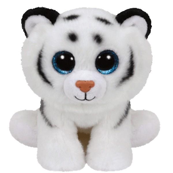 Мягкая игрушка Beanie Babies белый тигренок Тундра 15 см 42106 TY