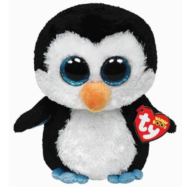 Мягкая игрушка Водлз пингвин черно-белый15 см TY 36008