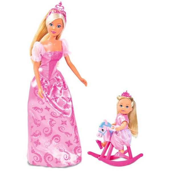 Куклы Штеффи и Еви Принцессы со зверушками Simba 5733223029