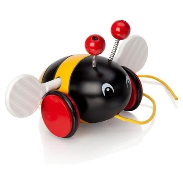 Каталка-пчелка на веревочке 30165 Brio