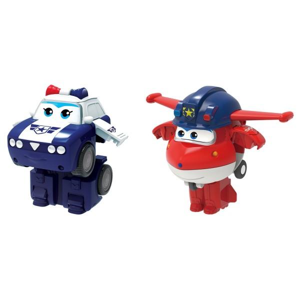 Мини-трансформеры 2 в 1 Джетт и Пол команда Полиции EU730002A Auldey Toys
