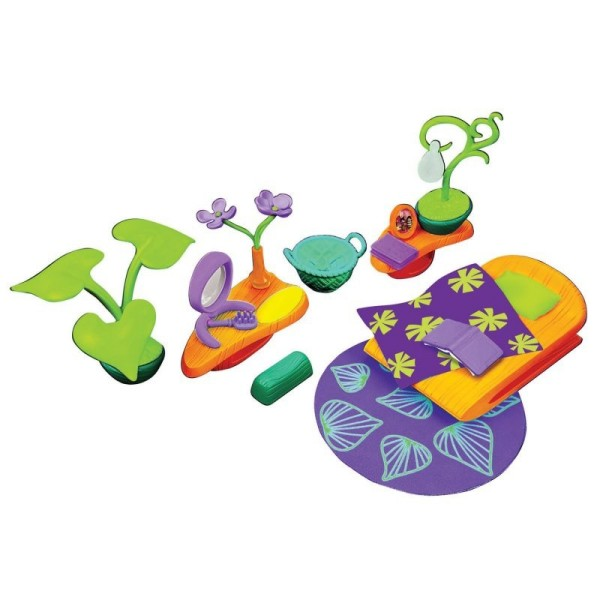 Набор аксессуаров для спальной комнаты (с фиолетовым ковром), 81529 Monchhichi