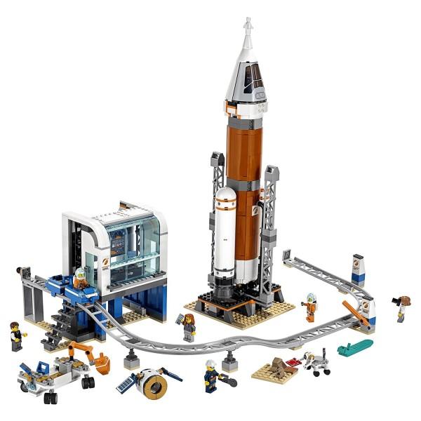 Игрушка Город Ракета для запуска в далекий космос и пульт управления запуском, 60228 LEGO