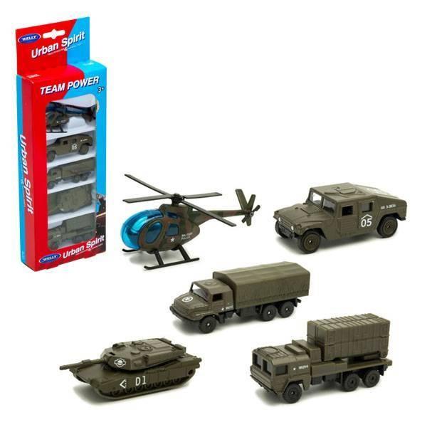 Игровой набор Военная техника 5 шт. 97506M Welly