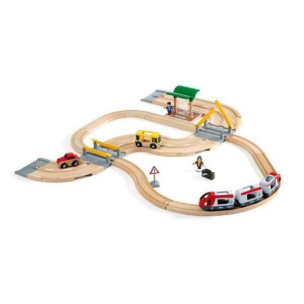 Железная дорога с переездом 33 элемента 33209 Brio