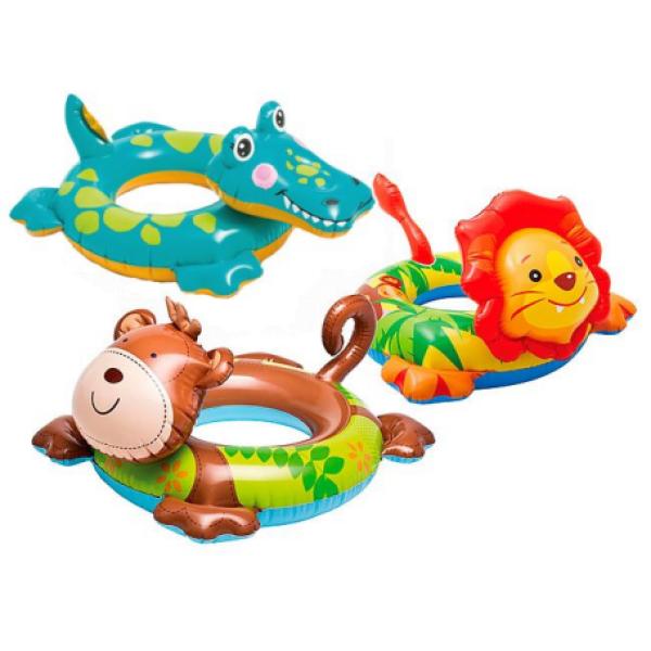 Круг надувной для плавания Животные 58221 Intex