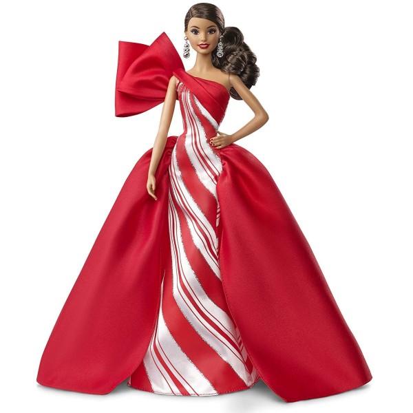 Праздничная кукла Barbie брюнетка FXF03 Mattel
