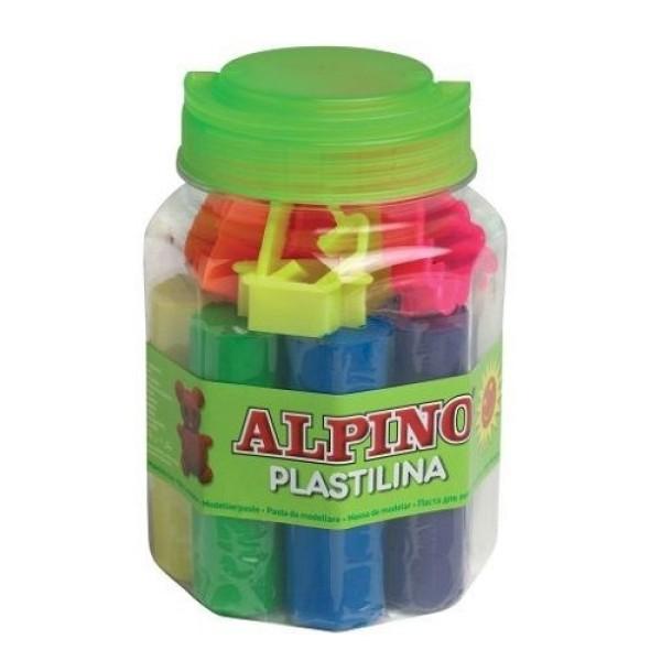 Набор пластилина с формами для лепки  8 цв. DP000054_  ALPINO