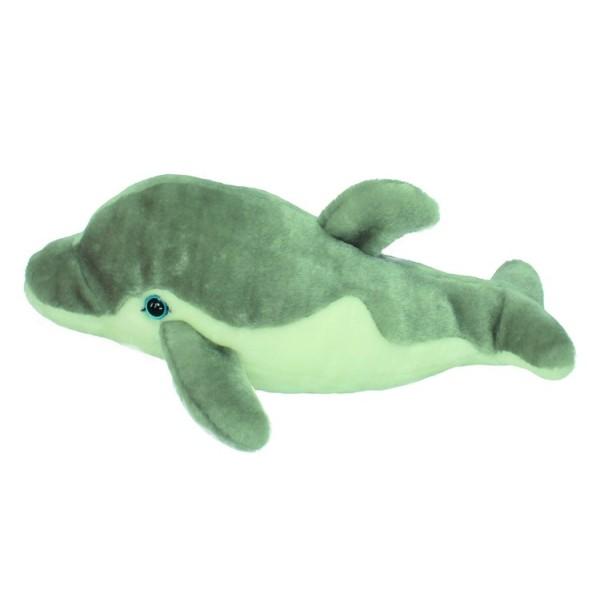 Мягкая игрушка Wiki Zoo Дельфин с обучающим чипом в 5 нажатий и мини энциклопедия