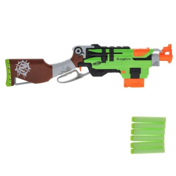 Игрушка бластер Nerf  ЗОМБИ Слингфайр A6563EU4 Hasbro