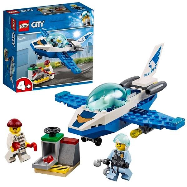 Конструктор ЛЕГО Город Воздушная полиция Патрульный самолет  60206 LEGO