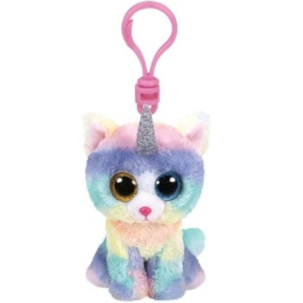 Игрушка-брелок Хизер кошка с рогом многоцветный 10 см TY 35232