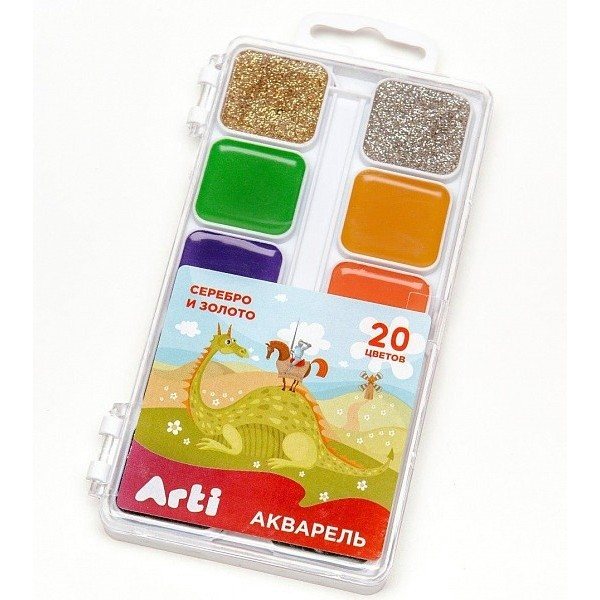 Акварель медовая полусухая Сказочный мир 20 цветов Arti К000368