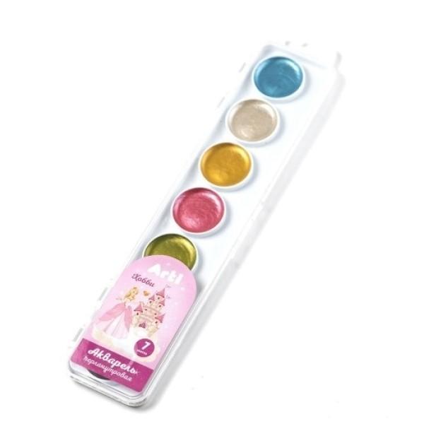 Акварель медовая полусухая Хобби перламутр 7 цветов Arti К000370