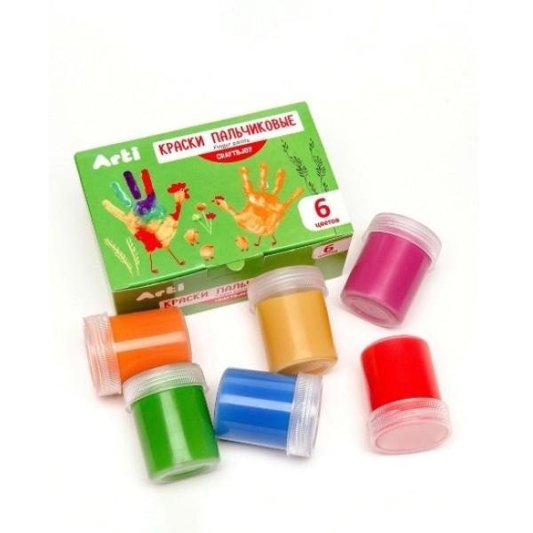 Краски гуашевые Craft and joy 6 цветов по 10 мл 60 мл Arti К000261