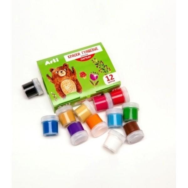 Краски гуашевые Craft and joy 12 цветов по 10 мл 120 мл Arti К000263