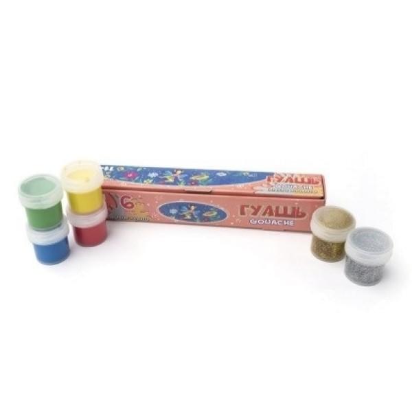 Краски гуашевые Сказочный мир 6 цветов по 10 мл 60 мл Arti К000267