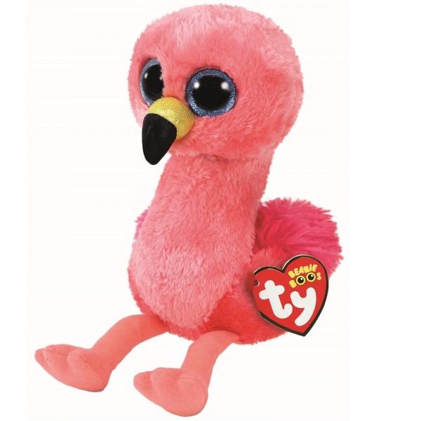 Мягкая игрушка Гилда фламинго розовый 25 см TY 37262