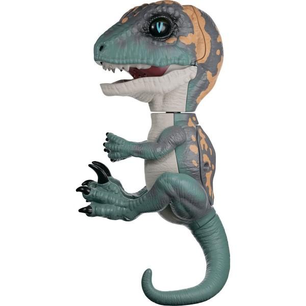 Интерактивный динозавр,зеленый с оранжевым, 3781 FINGERLINGS