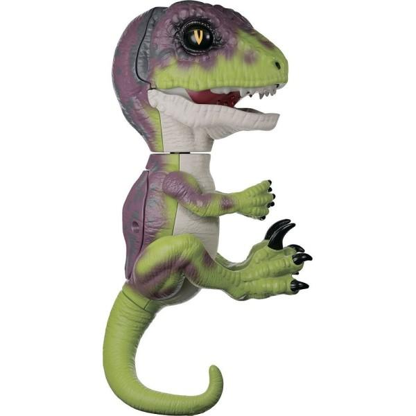 Интерактивный динозавр Стелс, зеленый с фиолетовым, 3782 FINGERLINGS