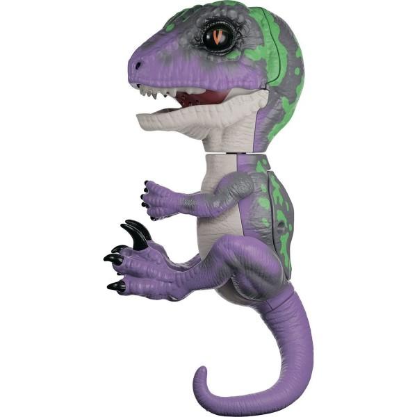 Интерактивный динозавр,фиолетовый с темно-зеленым, 3784 FINGERLINGS
