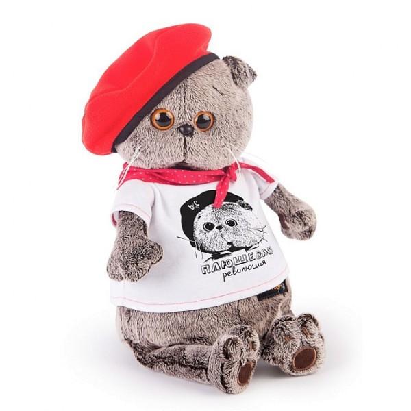 Мягкая игрушка Басик в футболке с принтом 19 см, , Ks19-074 Budi Basa